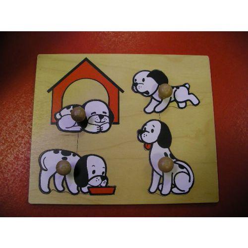 Puzzel honden familie