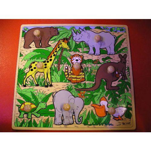 Knoppenpuzzel wilde dieren