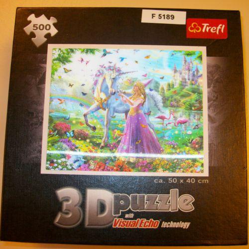 3-D puzzel 'Eenhoorn & Prinses'